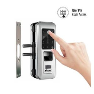 OZDL 23PCF G2W STD Fingerprint Digital Glass Door Lock with 4 in 1 Access Glass to Wall 3